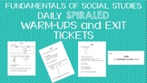 Foundation of Social Studies Warm-Ups and Exit Tickets
