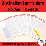 Foundation to Year 6 JAPANESE Australian Curriculum Assessment Checklists