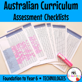 F to Year 6 TECHNOLOGIES Australian Curriculum Assessment Checklists BUNDLE