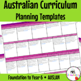 Foundation to Year 6 Australian Curriculum Planning Templates - Auslan