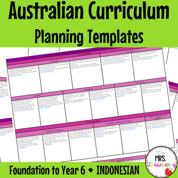 Foundation to Year 6 Australian Curriculum Planning Templates - Indonesian