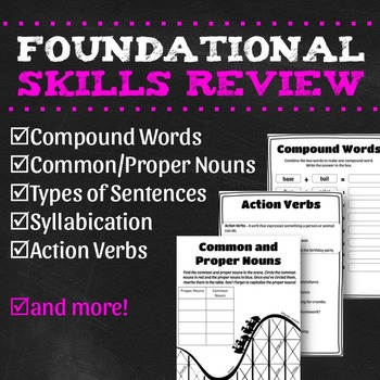 Foundational Reading and Writing Skills Review {No Prep}