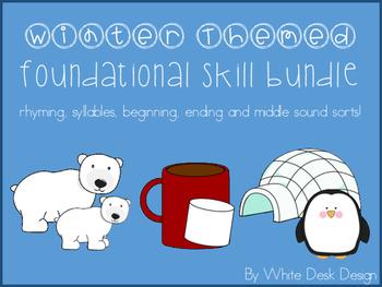Foundational Skill Bundle {Winter Themed} NO PREP!