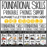 Foundational Skills: Alphabet and Letter Pattern Cards {The Bundle}