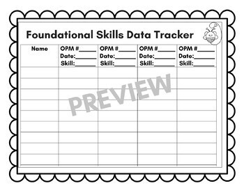 Foundational Skills OPM Tracker