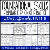 Foundational Skills: Printable Fundations Support {Practice for Level 1 Unit 11}