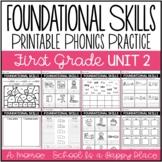 Foundational Skills: Printable Phonics Practice {First Gra