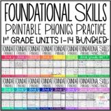 Foundational Skills: Printable Phonics Practice {First Grade Units 1-14 BUNDLED}