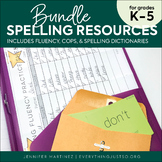 Spelling Resources Bundle: COPS, Spelling Fluency, Spelling Dictionary
