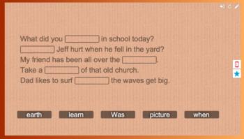 Foundations Grade 2 Unit 9 Week 1 Sentences