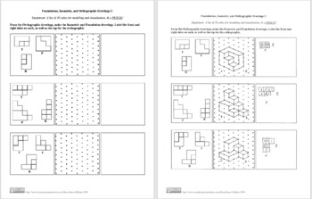 Foundations, Isometric, and Orthographic Drawings C