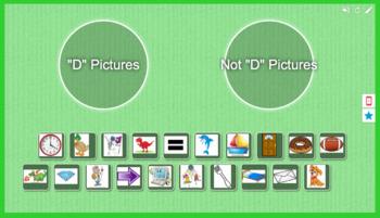 Foundations Kindergarten Letter D Picture Sort