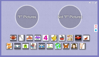 Foundations Kindergarten Letter F Picture Sort