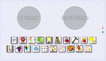 Foundations Kindergarten Letter L Picture Sort