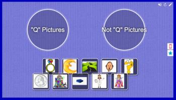 Foundations Kindergarten Letter Q Picture Sort