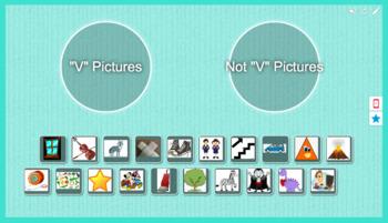 Foundations Kindergarten Letter V Picture Sort
