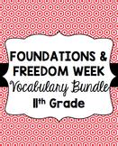 Foundations and Freedom Week Vocabulary Bundle