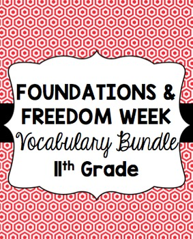 Foundations and Freedom Week Vocabulary Bundle