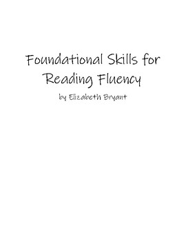Foundations for Reading Fluency