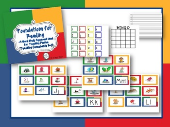 Foundations for Reading: Teaching Initial Consonant Sounds J-R