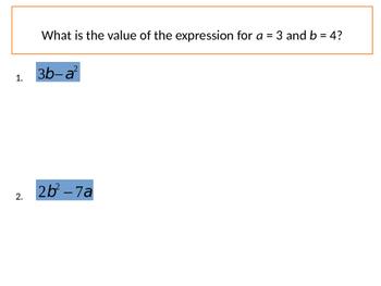 Foundations of Algebra - Order of Operations