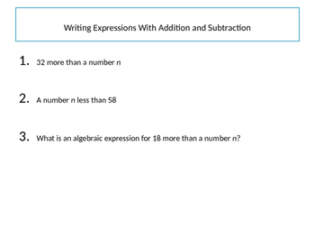 Foundations of Algebra - Variables and Expressions (editable)