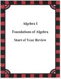 Foundations of Algebra Worksheet #1