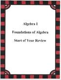 Foundations of Algebra Worksheet #2