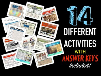 Foundations of America Digital Unit Activity Bundle (ACTIVITIES ONLY)