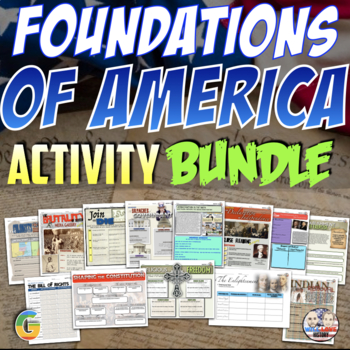 Foundations of America Unit Activity Bundle (ACTIVITIES ONLY)