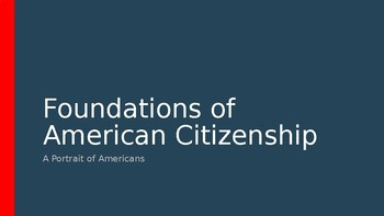 GOVERNMENT - Foundations of American Citizenship PPT