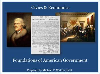 Foundations of American Government PowerPoint Unit for Vir
