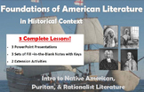 Foundations of American Literature in Historical Context