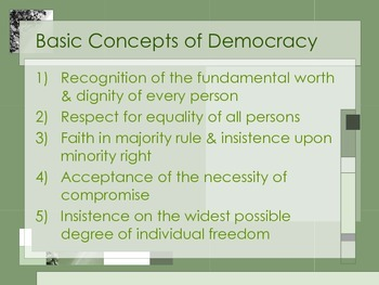 Foundations of Democracy