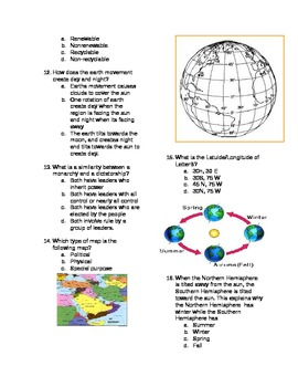 Foundations of Geography Unit Test