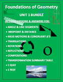 Foundations of Geometry Bundle Editable Word Document