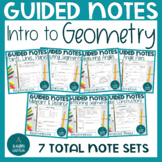 Foundations of Geometry binder notes BUNDLE