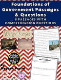 Foundations of Government Close Reading Passages {Digital & PDF Included}