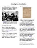 Info Text - The Foundations of Government: Creating the Constitution (Sub Plans)