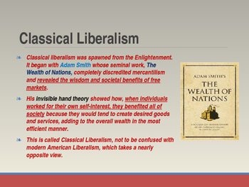 Economic Theories of Liberalism, Socialism & Marxism