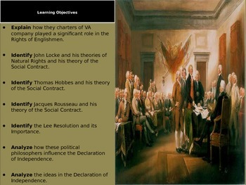Foundations of Government Session 3: The Declaration of Independence
