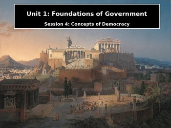 Foundations of Government Session 4: Concepts of Democracy