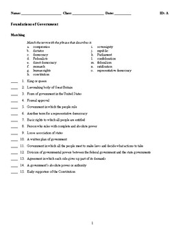 Foundations of Government Test
