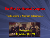 Establishing the US Government  - The First Continental Congress