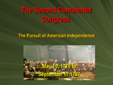 Establishing the US Government  - The Second Continental Congress