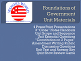 Constitution Unit - PPT, Lesson with Writing Assignment, E