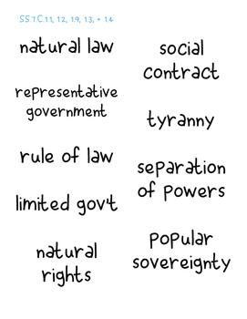 Foundations of Government - Vocabulary