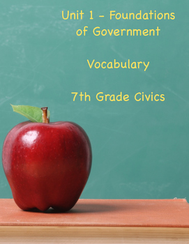 Foundations of Government - Vocabulary