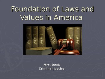 Foundations of Laws and Values of the United States
