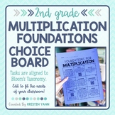 Foundations of Multiplication Choice Board - 2nd Grade, Editable